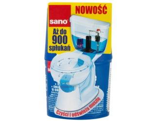 Sano – niebieska kostka czyszcząco-barwiąca dospłuczki
